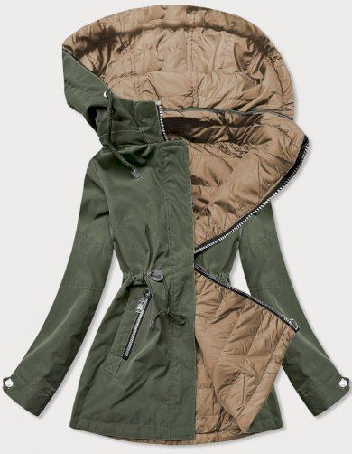 Khaki-béžová dámská bunda parka 2v1 (BH2015)