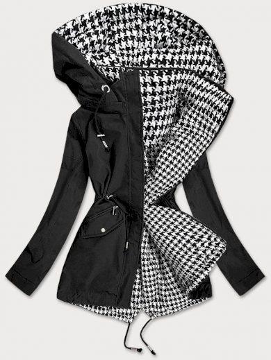 Černo-bílá oboustranná dámská bunda (XW503X)