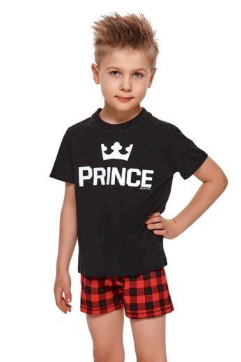 Krátké chlapecké pyžamo Prince černé