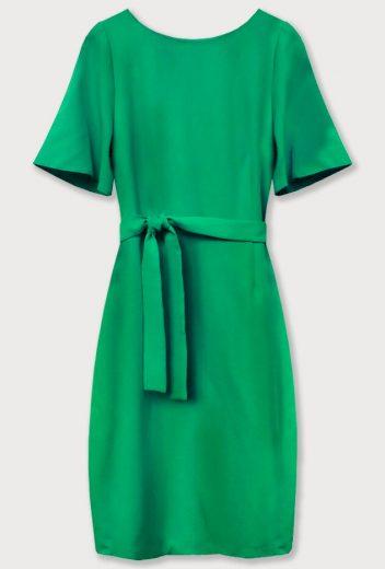 Zelené tužkové šaty s páskem (313ART)