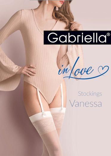 Dámské punčochy k podvazkovému pásu Gabriella Vanessa 476
