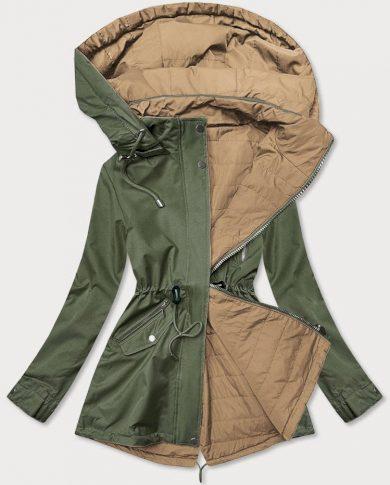 Khaki-béžová dámská oboustranná bunda (BH2016)