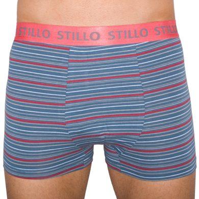 Pánské boxerky Stillo šedé s červenými proužky (STP-010)