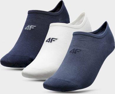 Pánské nízké ponožky 4F SOM300 modré_bílé_šedé (3páry)