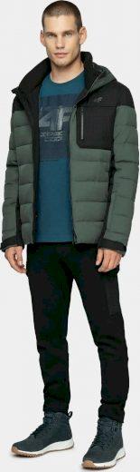 Pánská péřová bunda 4F KUMP205 šedá