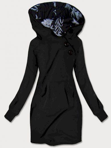 Černá mikina/šaty s kapucí (696)