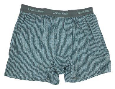 Pánské boxerky U1029A-31I šedá-tyrkysová - Calvin Klein