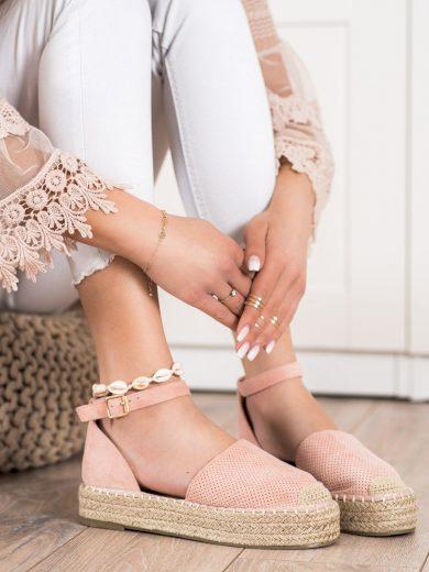 Praktické  polobotky růžové dámské bez podpatku