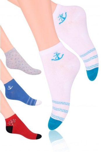 Dámské kotníkové ponožky Steven art.114