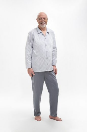 Rozepínané pánské pyžamo Martel Antoni 403 dł/r 3XL-4XL