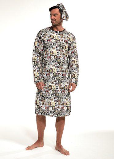 Pánská noční košile Cornette 110 643902 dł/r 3XL-5XL