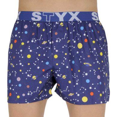 Pánské trenky Styx art sportovní guma planety (B1057)