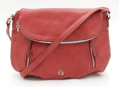 Červená kabelka s klopou LULU CASTAGNETTE