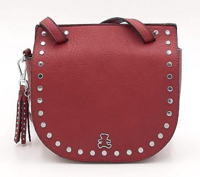 Malá kabelka se cvočky v bordó barvě LULU CASTAGNETTE