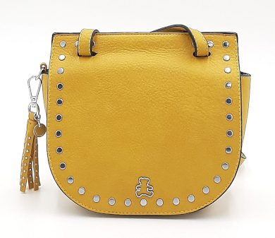Malá kabelka se cvočky ve žluté  barvě LULU CASTAGNETTE