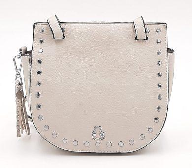 Malá kabelka se cvočky v šedé  barvě LULU CASTAGNETTE