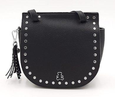 Malá kabelka se cvočky v černé barvě LULU CASTAGNETTE