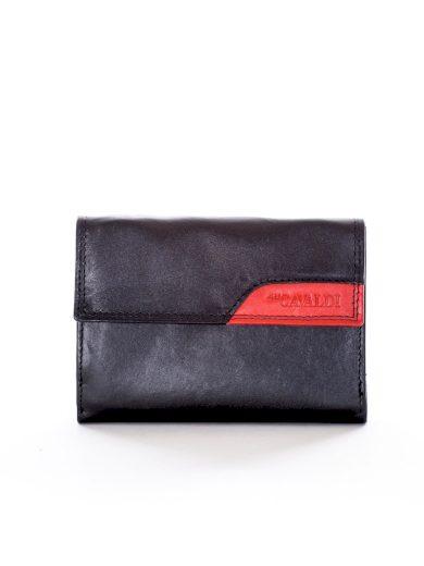 Černá peněženka s klopou