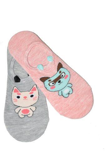 Dámské ponožky balerínky Wik Midini 0144 Small Puppy A'2