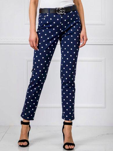 Dámské kalhoty s puntíky ADL3014 - RUE PARIS