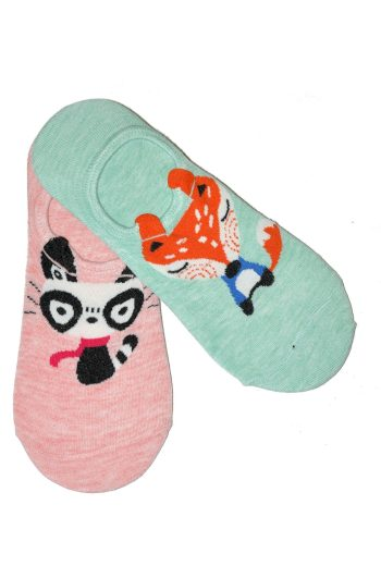 Dámské nízké ponožky Baleriny WiK Midini 81169 Animal A'2