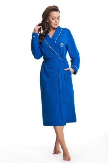 Dámský bavlněný župan Daphne modrý
