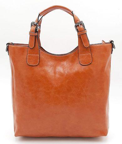 Pomerančová dámská klasická kabelka INES DELAURE