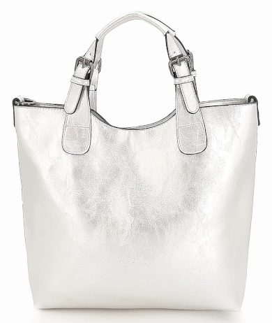 Stříbrná dámská klasická kabelka INES DELAURE