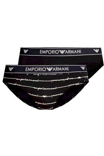 Dámské kalhotky 163334 1P219 03937 námořnická modrá - 2 pack - Emporio Armani