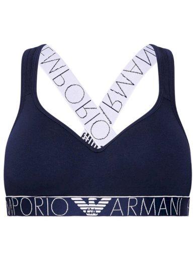 Bralette podprsenka 163995 1P227 00135 námořnická modrá - Emporio Armani