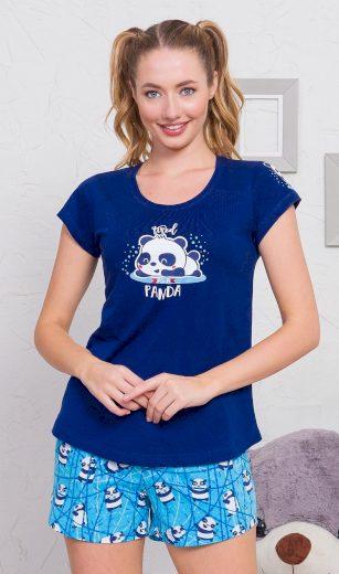 Dámské pyžamo šortky Malá panda - Vienetta