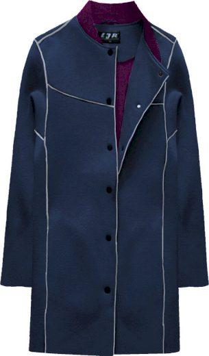 Tmavě modrá neoprénová bunda (016LJ)