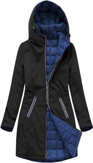 Černo-tmavě modrá oboustranná bunda pro přechodné období (7700)