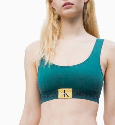 Sportovní podprsenka QF4918E-ZAY zelená - Calvin Klein