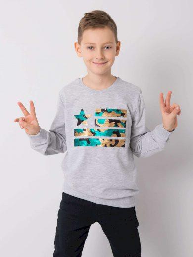 Chlapecká bavlněná mikina 13401 - FPrice
