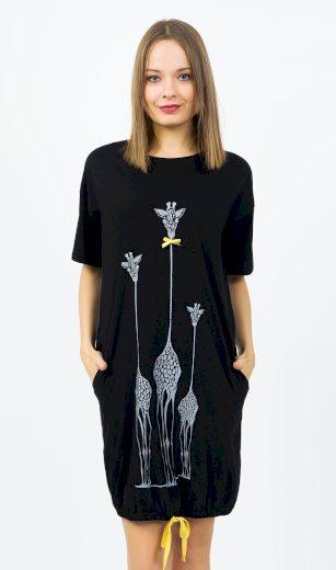 Dámské domácí šaty s krátkým rukávem Žirafy - Vienetta