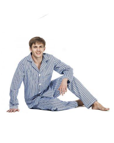 Pánské pyžamo Kuba Flanela Nadrozměrné 6XL-7XL