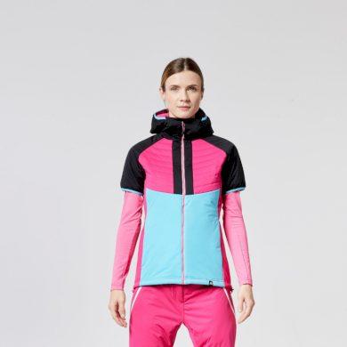 VE-4265SNW dámská ski-touring vesta aktivní sport zateplená Primaloft® izolace Eco Black RIKONA blackblue