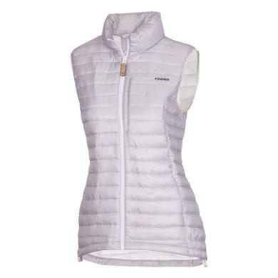 VE-4256SP dámská vesta s imitací peří sportovní krátká IOVA white