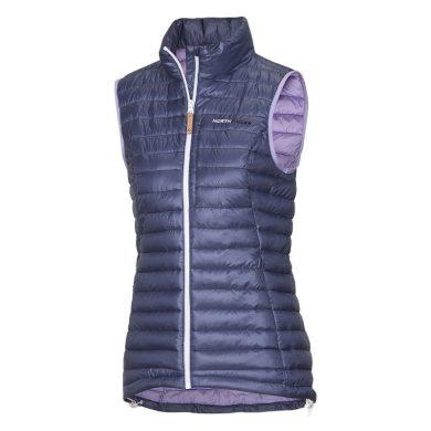 VE-4256SP dámská vesta s imitací peří sportovní krátká IOVA lila