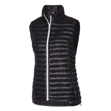 VE-4256SP dámská vesta s imitací peří sportovní krátká IOVA black