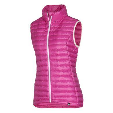 VE-4256SP dámská vesta s imitací peří sportovní krátká IOVA rose