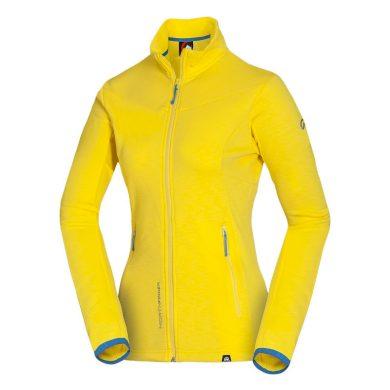 MI-4560OR dámská mikina strečová velmi pohodlná LADONIA yellow