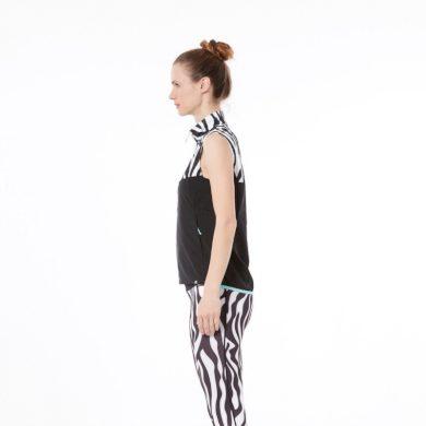NORTHFINDER dámská běžecká vesta celosezonní 2L BARITA blackwhite