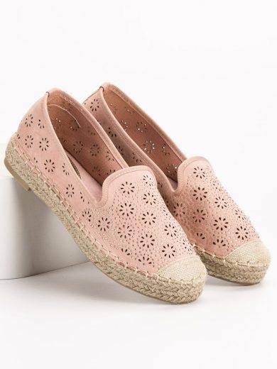 Komfortní růžové  baleríny dámské bez podpatku