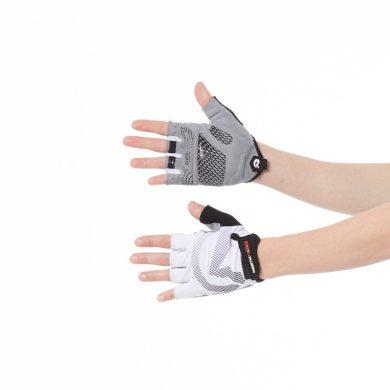 RU-2012MB dámské rukavice Hi-tech cyklistické s gelovou výplní MISSHORT blackred