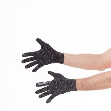 RU-1015RG unisex rukavice běžecké RUNBE black