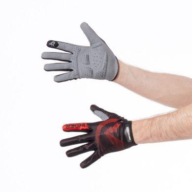 RU-1013MB pánské rukavice cyklistické down-hill s gelovou výplní MYLONG blackred