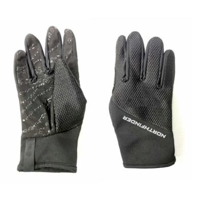 AS-1032OR unisex outdoorové strečové rukavice black