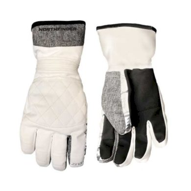 unisex rukavice lyžiarské zateplené whiteblack